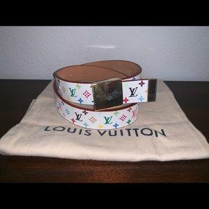 Authentic Louis Vuitton multicolor belt size 32